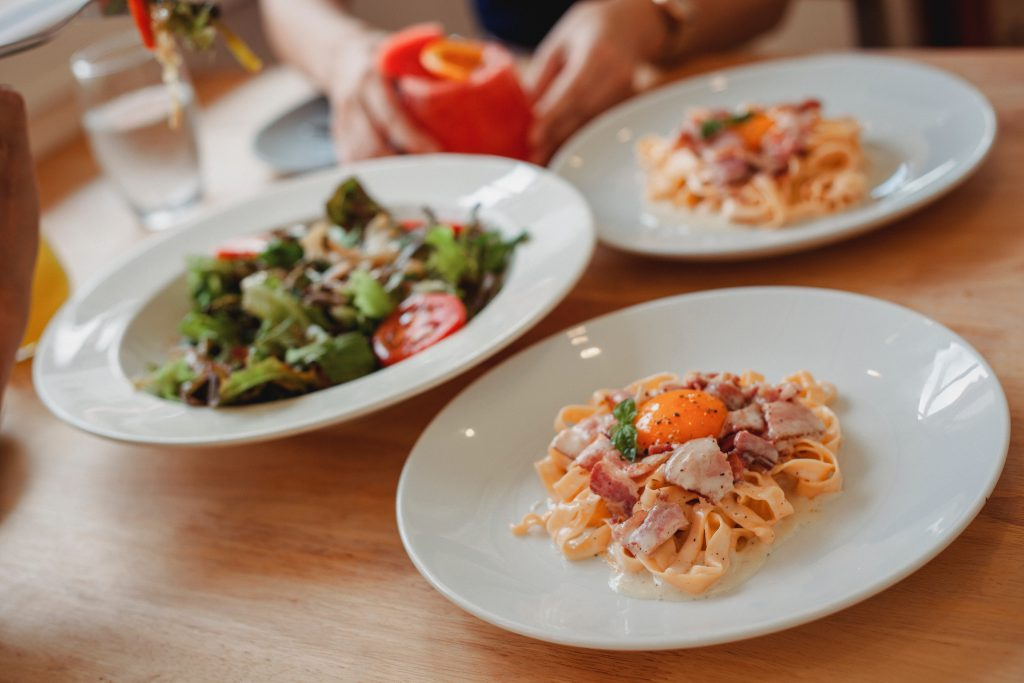 pasta salade met kip